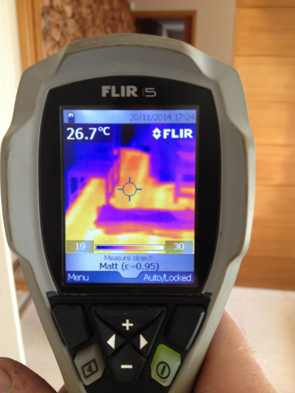Thermal Imaging Camera shows any heat loss points