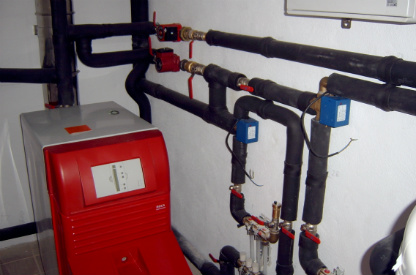 Boiler and pipework, Menorca
