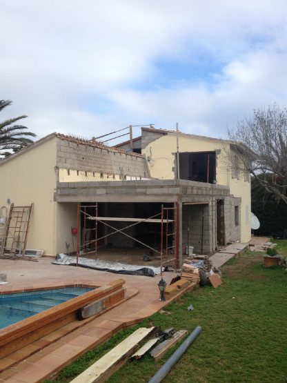 Building extension - during, Menorca